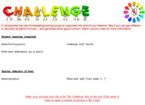 T&L Challenge slip 2